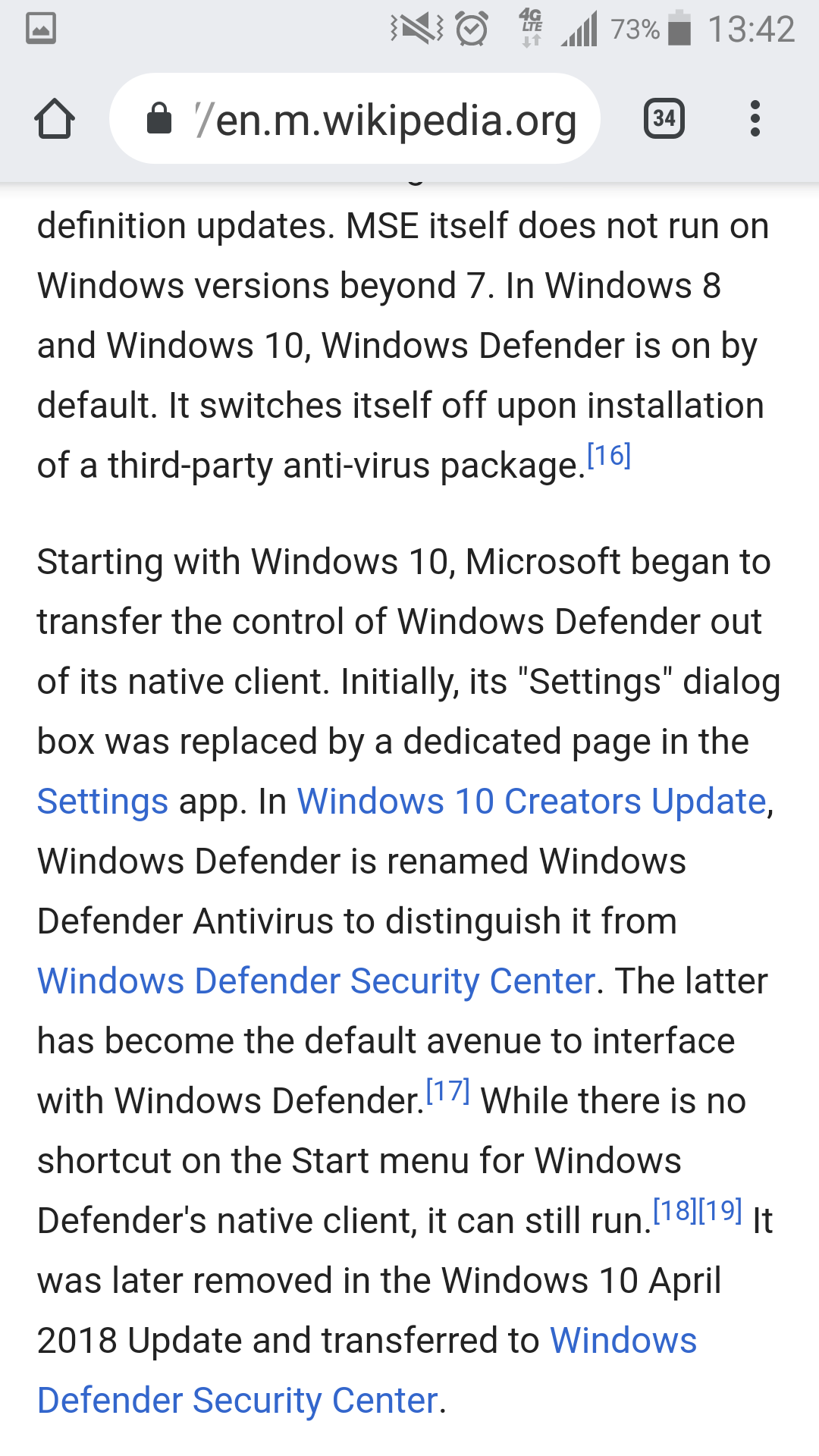Recent antivirus testing found Windows Defender to be a top