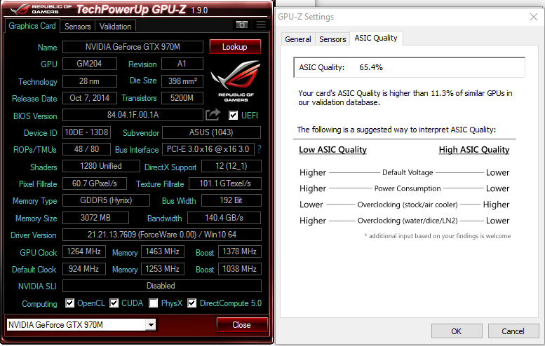 Post your gpu's ASIC quality | Page 23 | TechPowerUp Forums