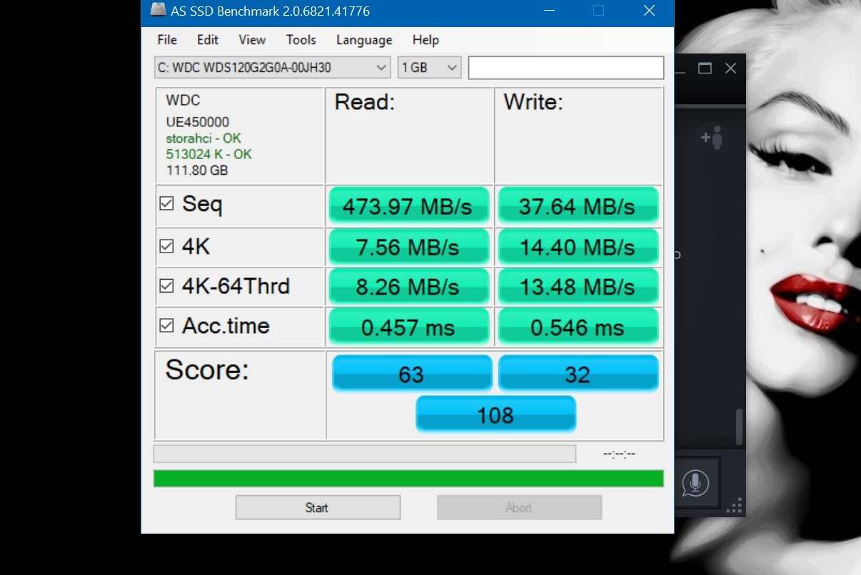 Brand new 120gb WD Green SSD slow asf! | TechPowerUp Forums
