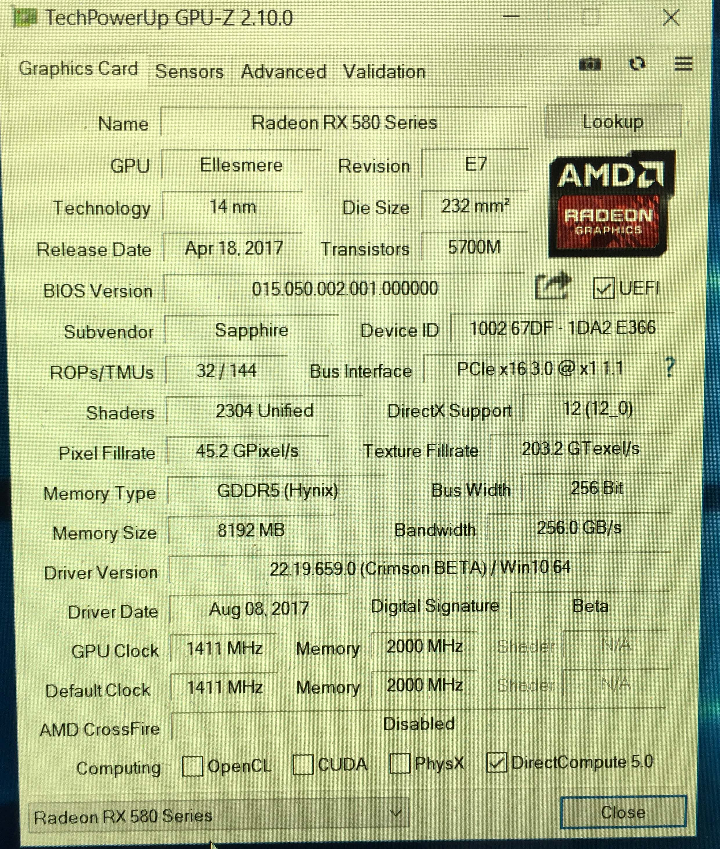 Looking for Original Factory Bios Rom for RX580