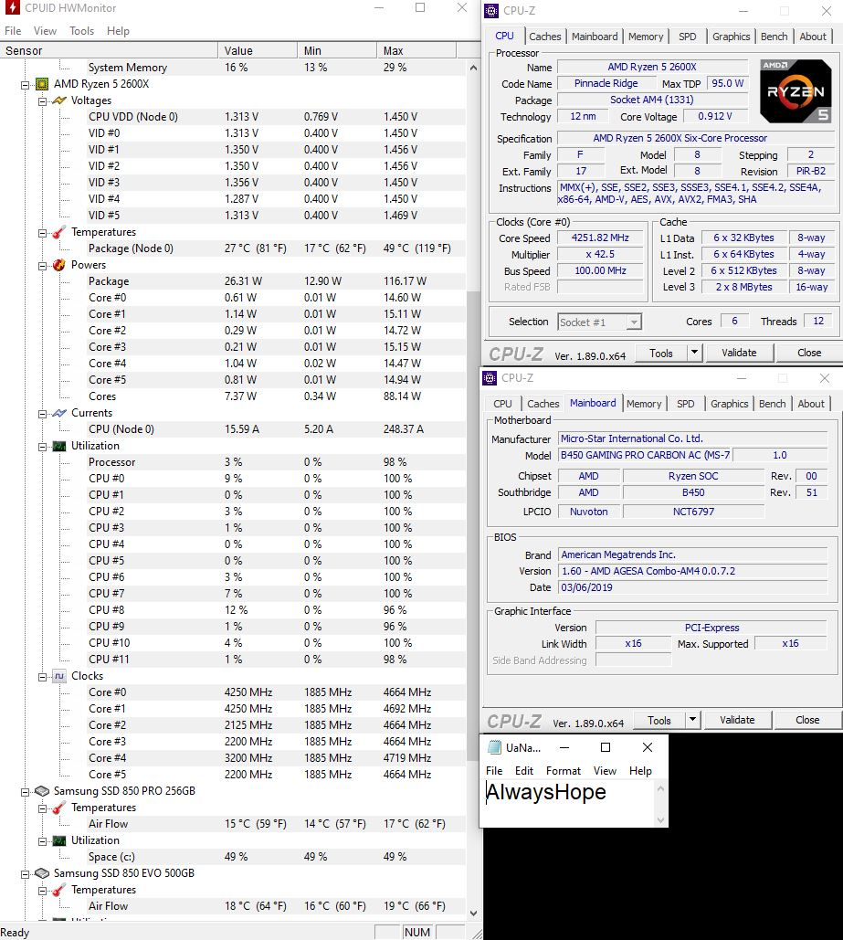R5 2600X boost in game | TechPowerUp Forums