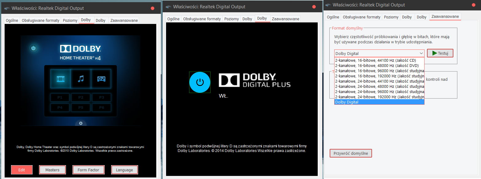 download dolby digital plus home theater windows 10