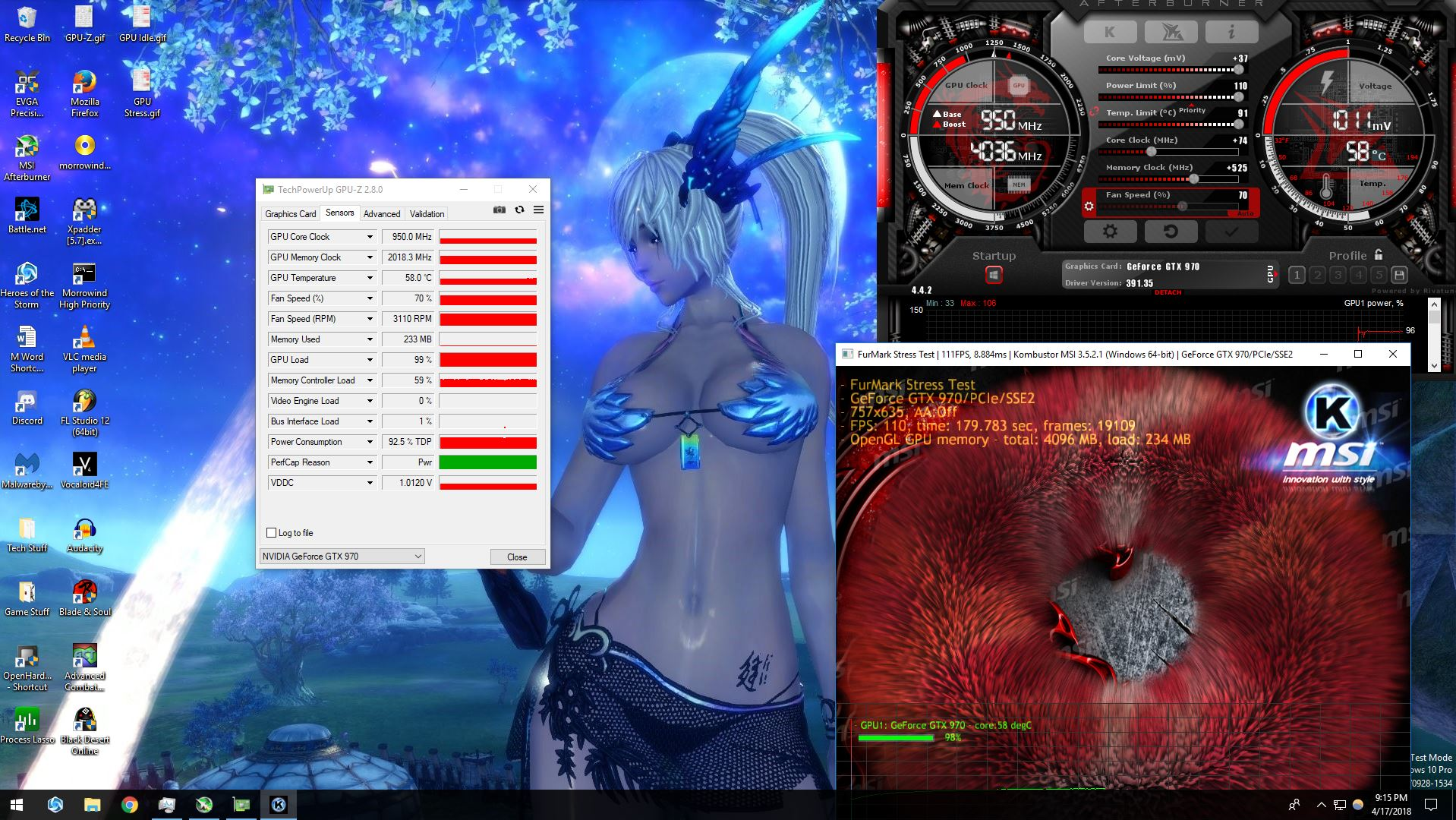 Perfcap Pwr on a EVGA GTX 970 Superclocked ACX 2 0