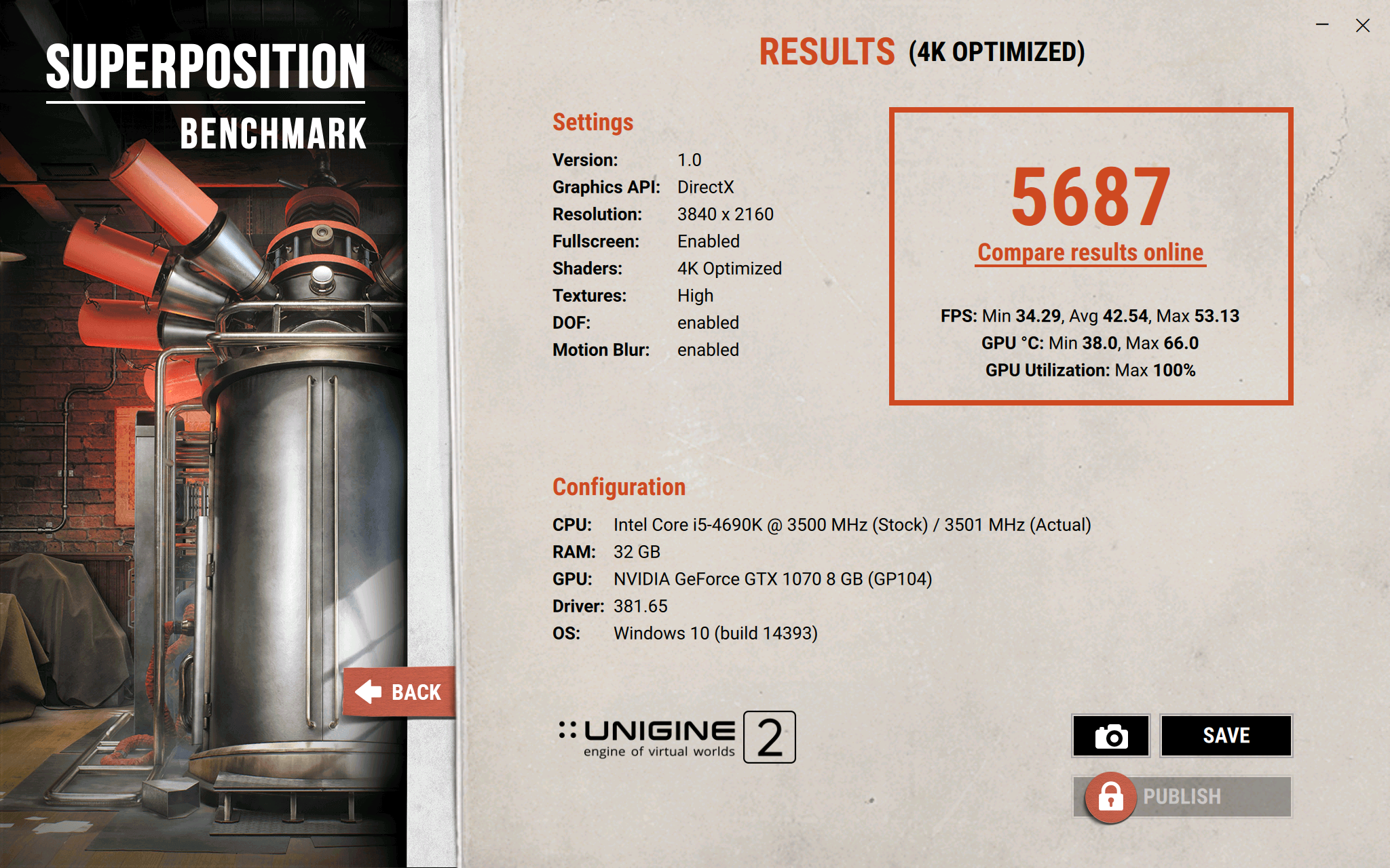 Unigine Superposition Benchmark - post your results