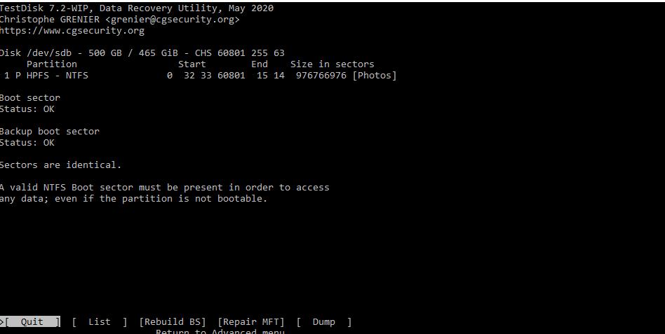 TestDisk Advanced tab.png