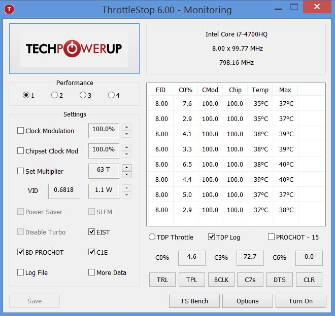 Disabling turbo i7 4700HQ with throttlestop | TechPowerUp Forums