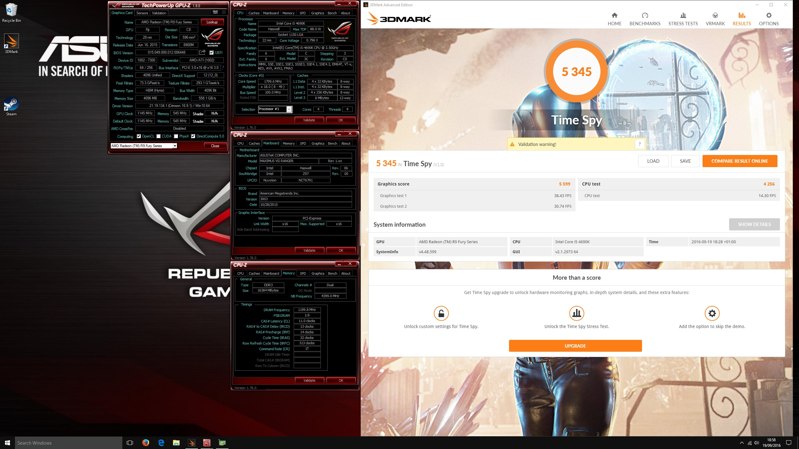 3Dmark Time Spy - Post your scores! | Page 6 | TechPowerUp