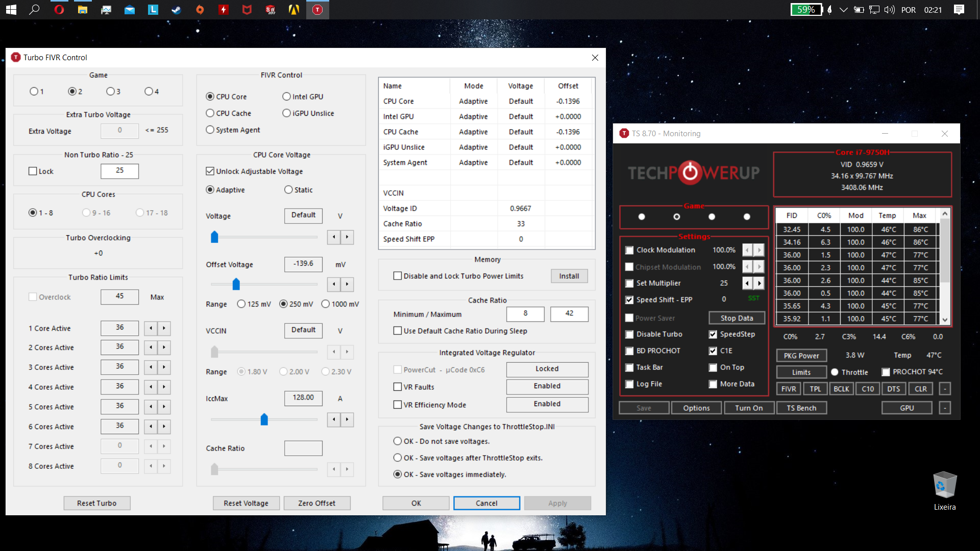 Mickey: I7 9750H turn all core equal [IMG]