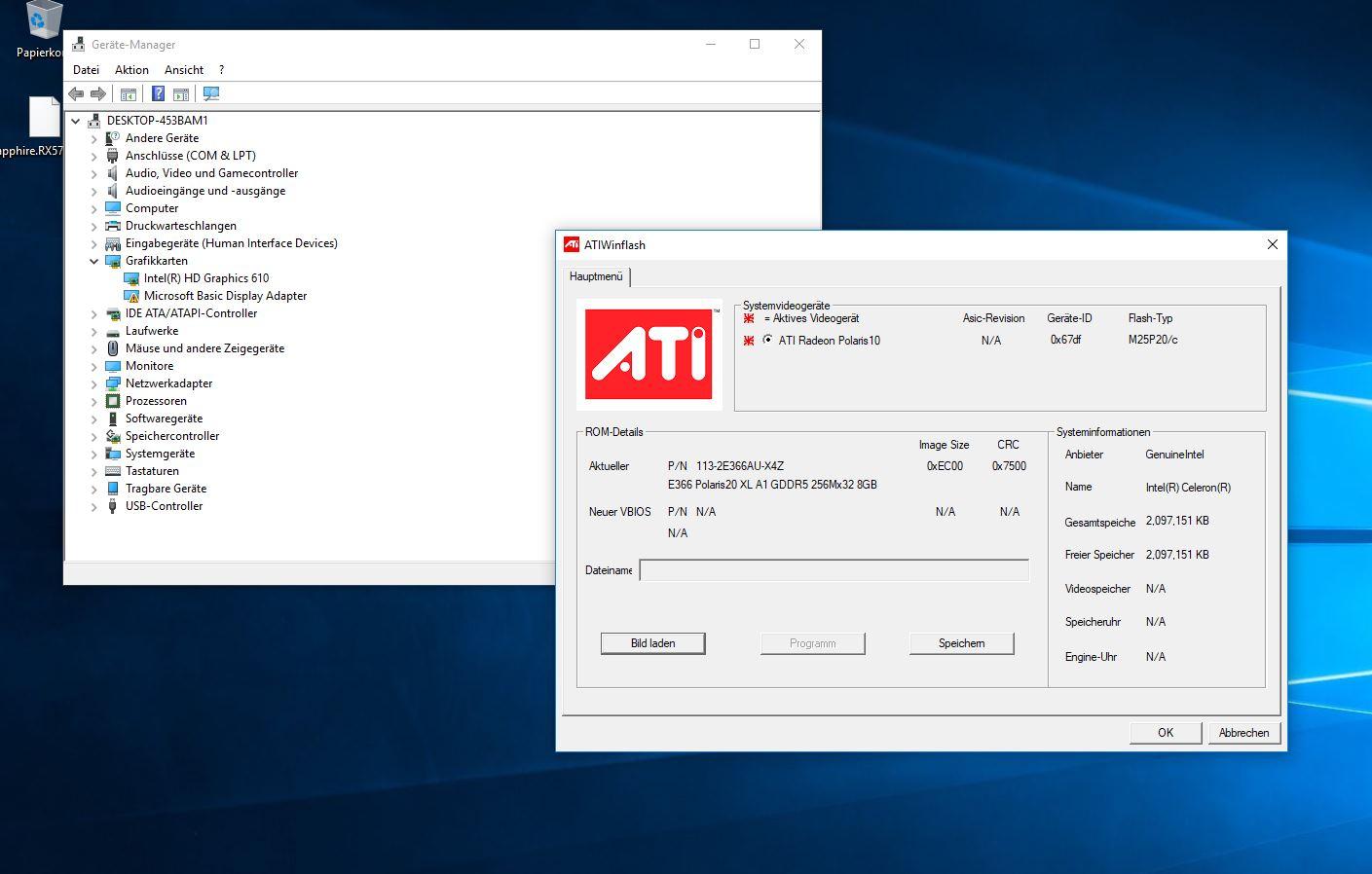 RX 570 BIOS flash - GPU destroyed? | TechPowerUp Forums