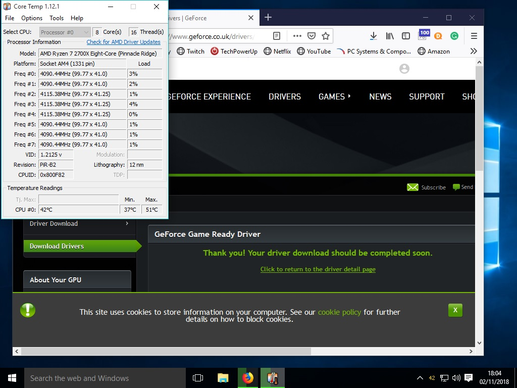 ryzen 2700x new OS install random freezes and blue screen