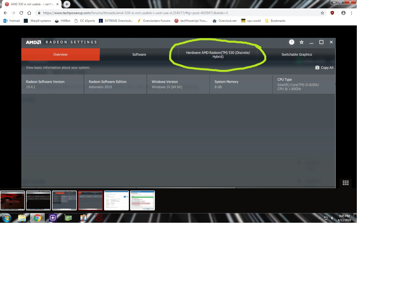 AMD 530 is not usable    i can't use it | TechPowerUp Forums