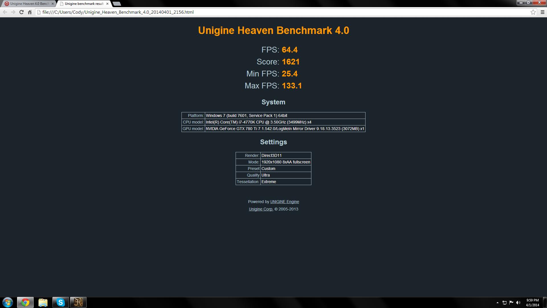 Unigine Heaven 4 0 Benchmark Scores | TechPowerUp Forums