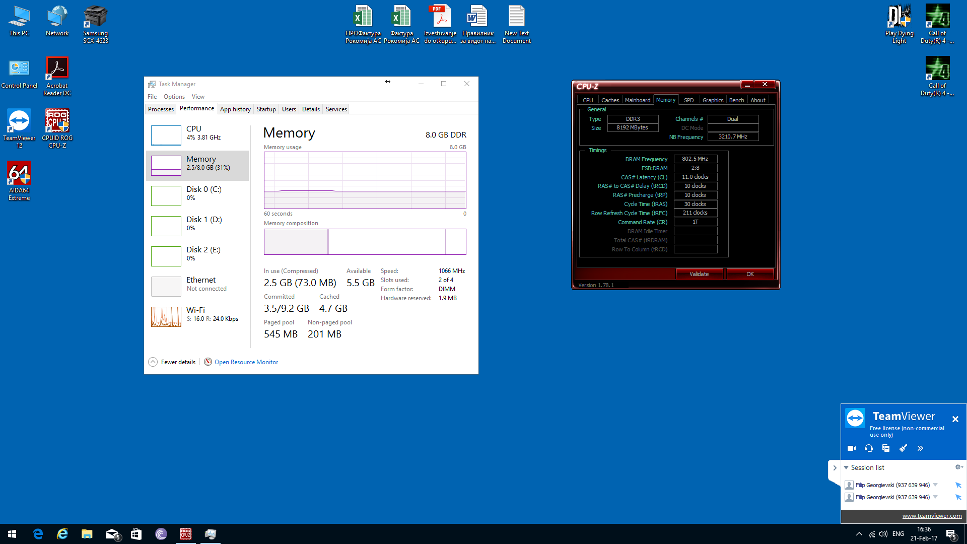 XMP Profile 1600MHZ RAM, Task Manager Shows 1066