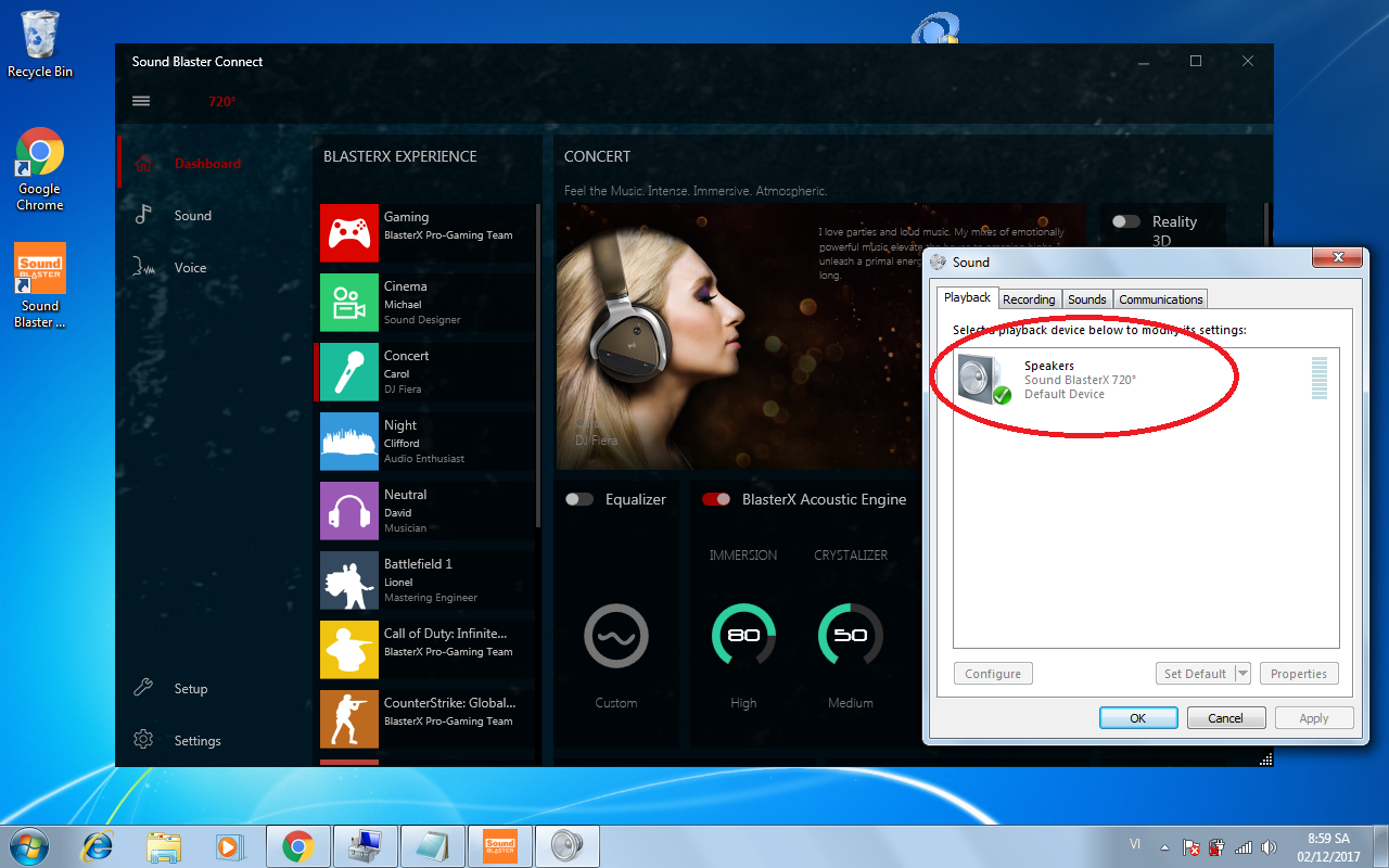 sound blaster cinema doesnt work windows 10