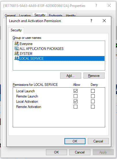 Help fixing the server {37998346-3765-45B1-8C66-AA88CA6B20B8} did