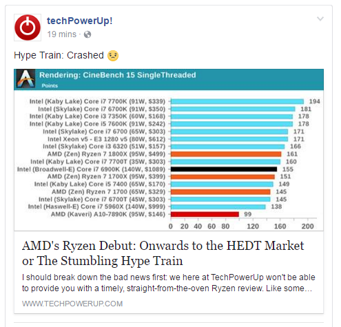 AMD's Ryzen Debut: Onwards to the HEDT Market or The Stumbling Hype