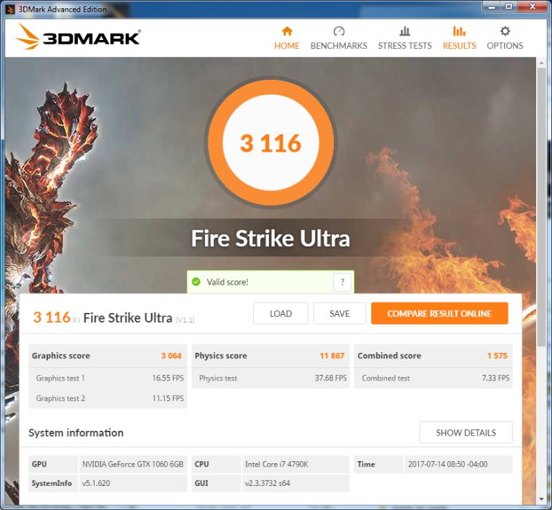 2ND New MSI GTX 1060 Getting even worse 3DMark Firestrike