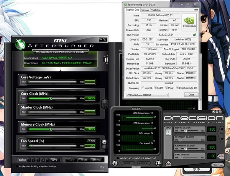 No Shader Clock in EVGA Precision & MSI Afterburner