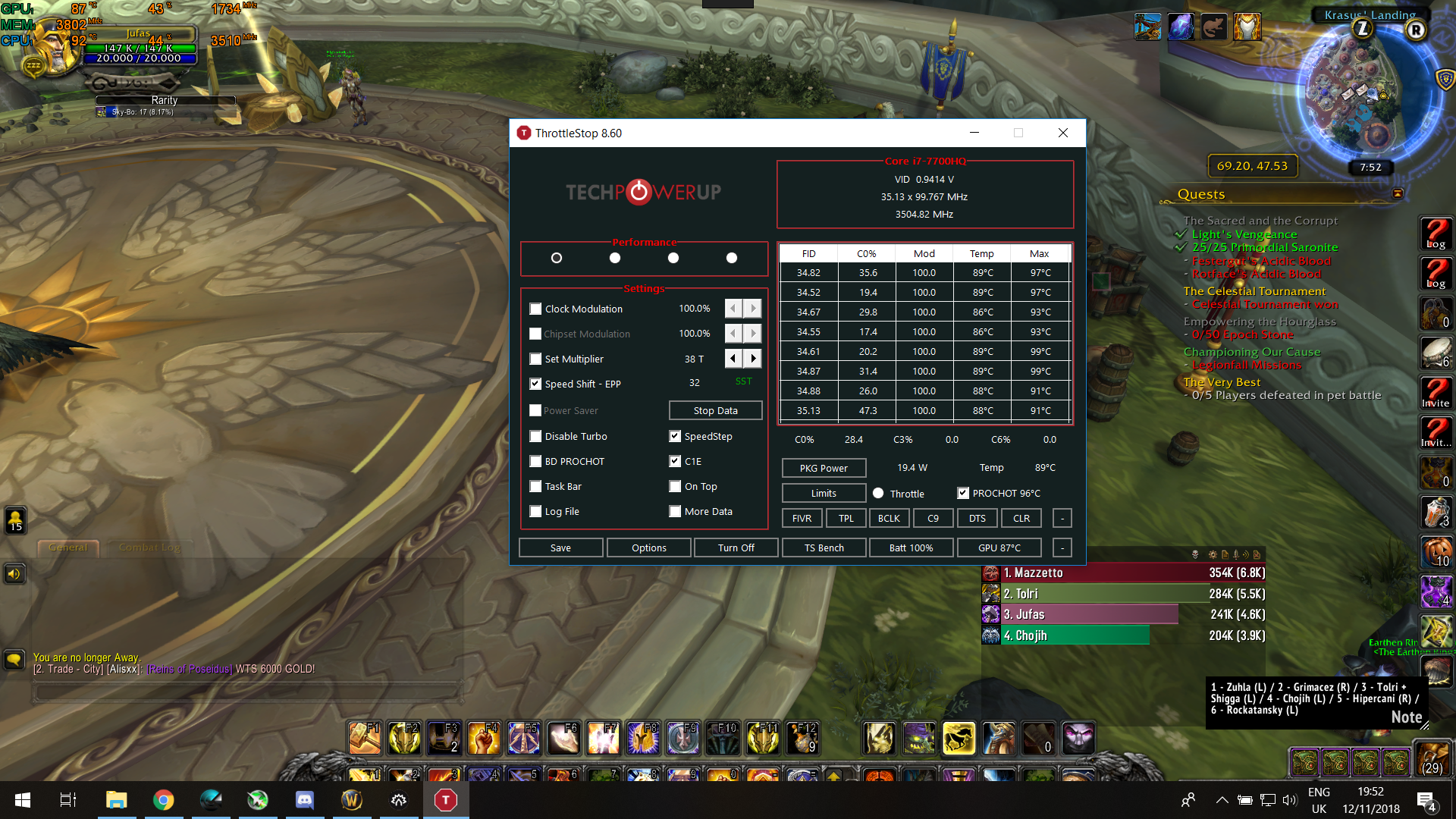 7700HQ overheating on WoW | TechPowerUp Forums