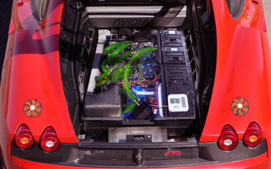 Case Gallery Pc Inside A 2008 Ferrari 430 Scuderia Techpowerup Forums
