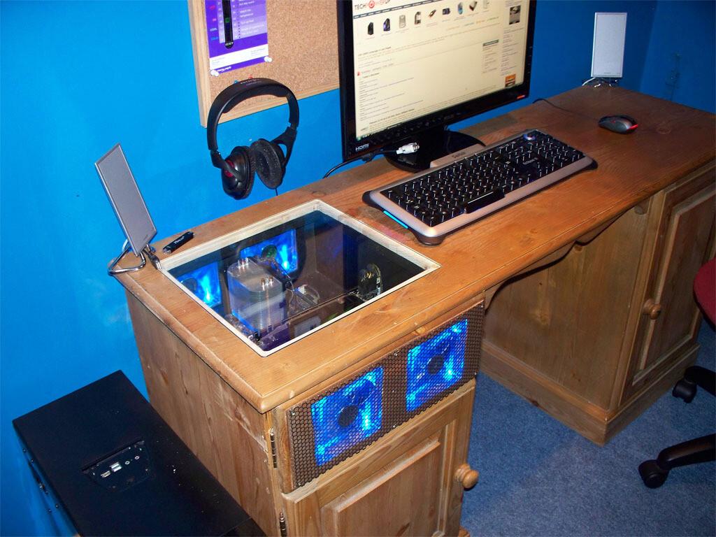 Как сделать компьютер стол своими руками 14