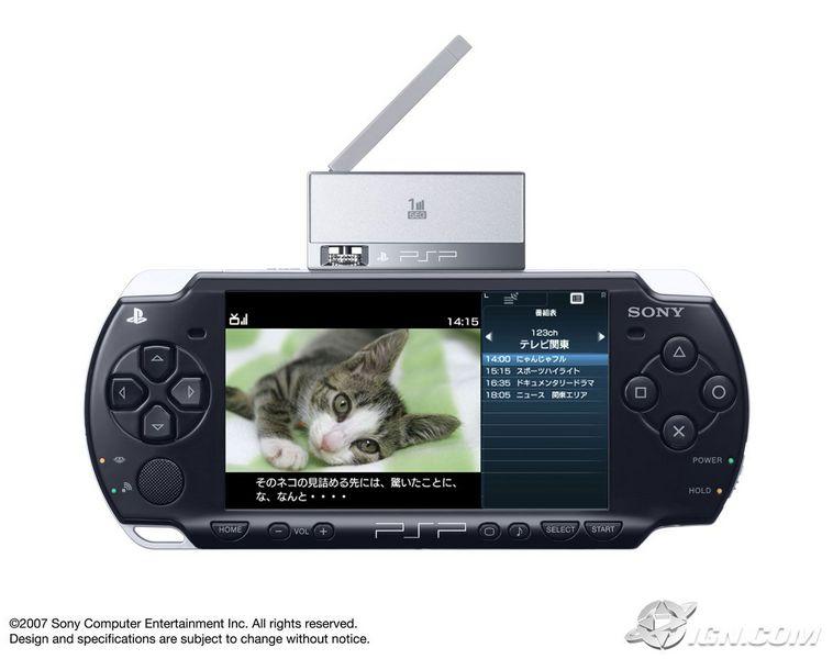 Sony announces psp 1seg tv tuner.