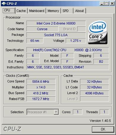 Intel® core™2 extreme processor x6800 cpu 2. 93g 雙核心cpu,gigabyte.