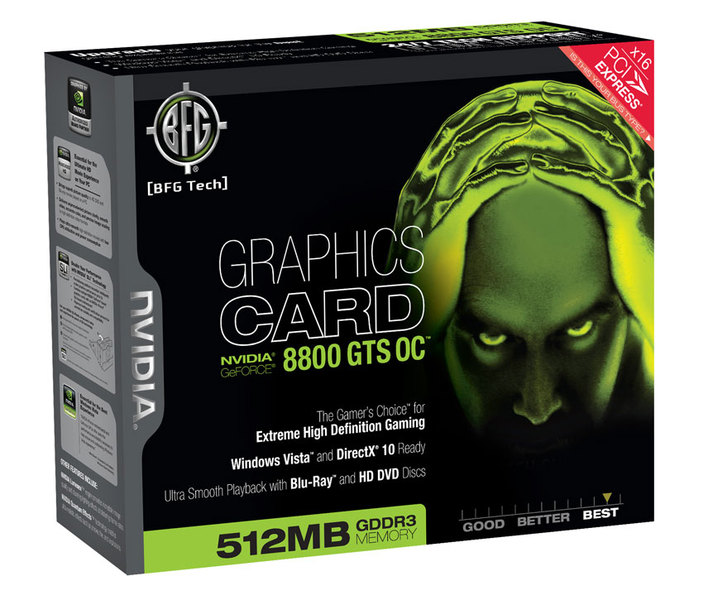 BFG Launches 512MB 8800 GTS