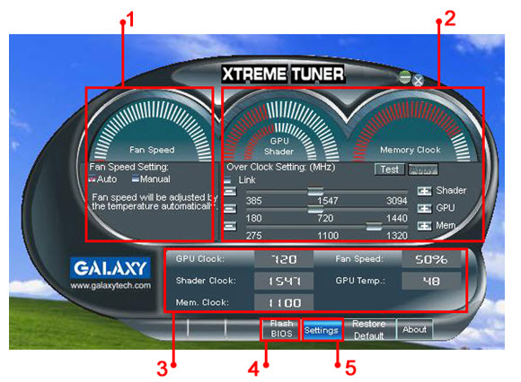Galaxy Debuts Xtreme Tuner Overclocking Software | TechPowerUp