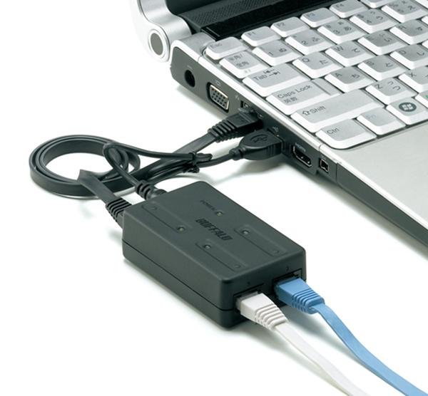 Buffalo Intros Tiny Usb Powered 3 Port Ethernet Switch