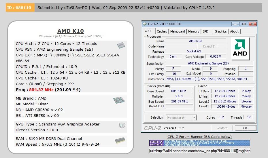 AMD K10 12 core