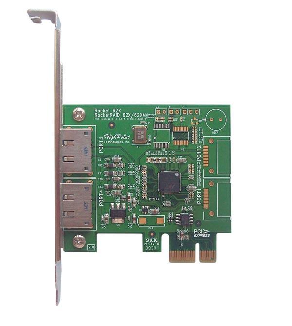 HighPoint анонсирует первый в мире дискретный адаптер SATA 6.0 Гб/c
