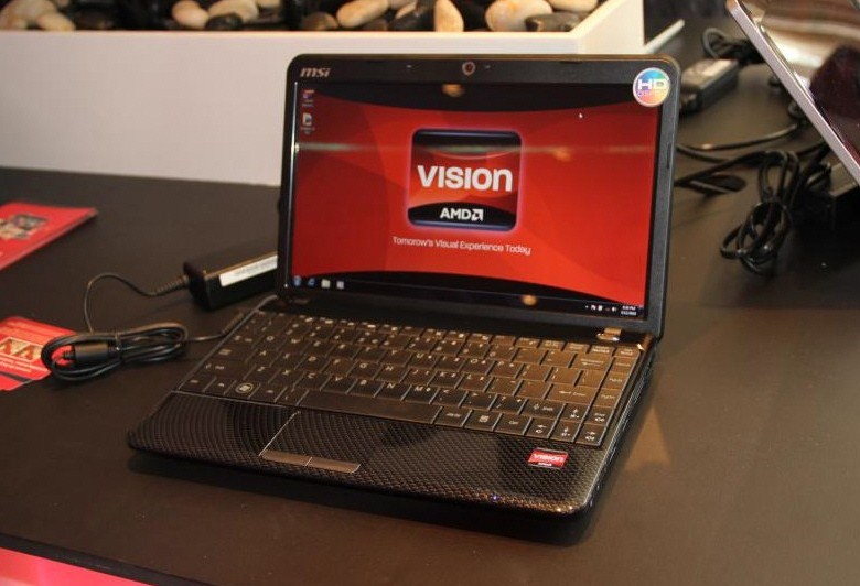 MSI Wind U250 AMD Vision Notebook Pictured | techPowerUp