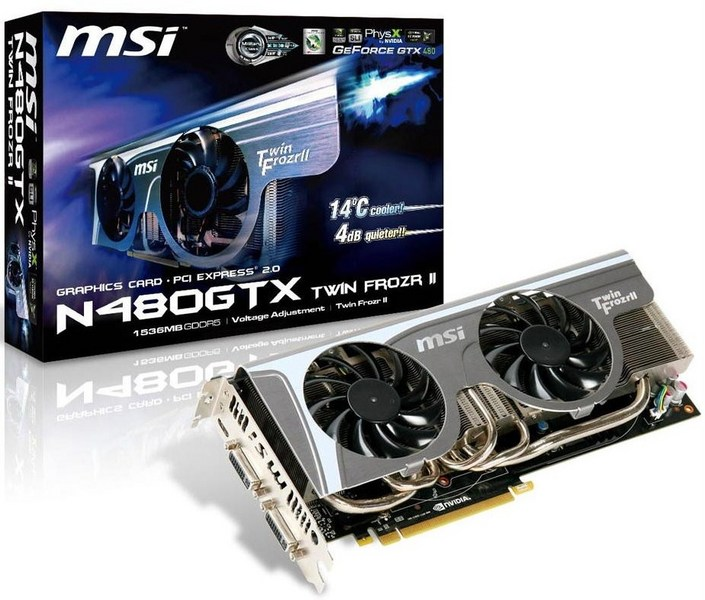 MSI Launches the N480GTX Twin Frozr II Graphics Card | TechPowerUp