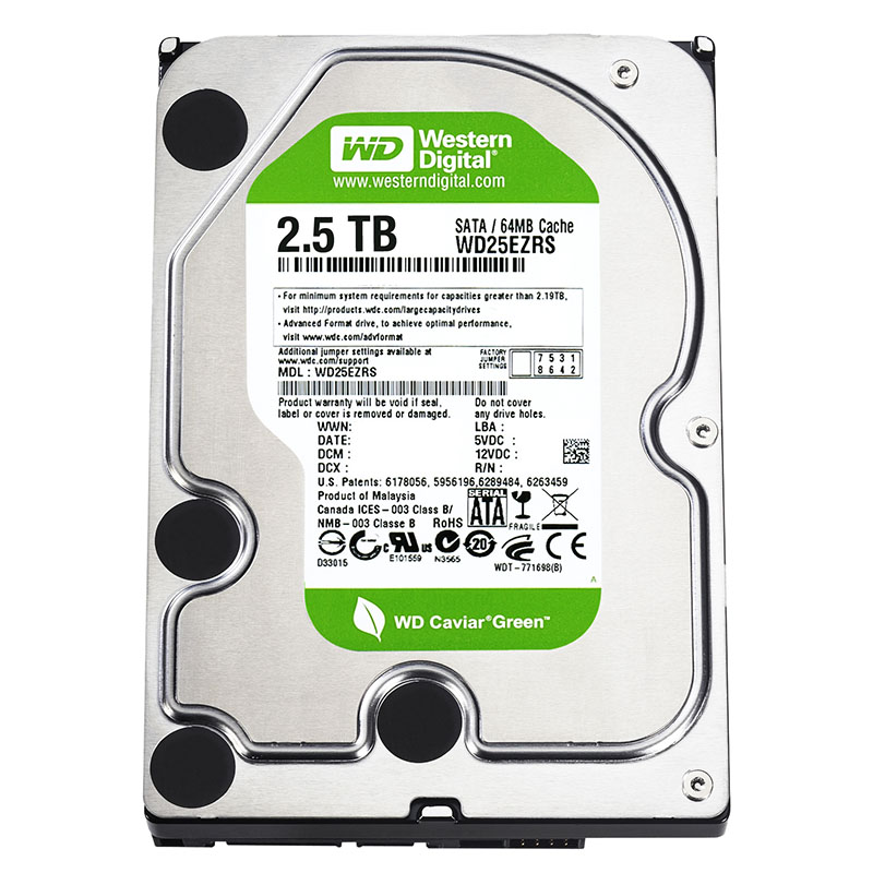 Western Digital Announces Caviar Green 2 5 Tb And 3 Tb
