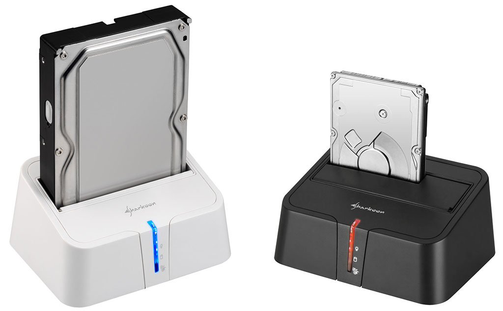 Sharkoon SATA QuickPort XT USB 3.0 HDD Docking Station for SATA Hard Drives USB 3.0 black Black
