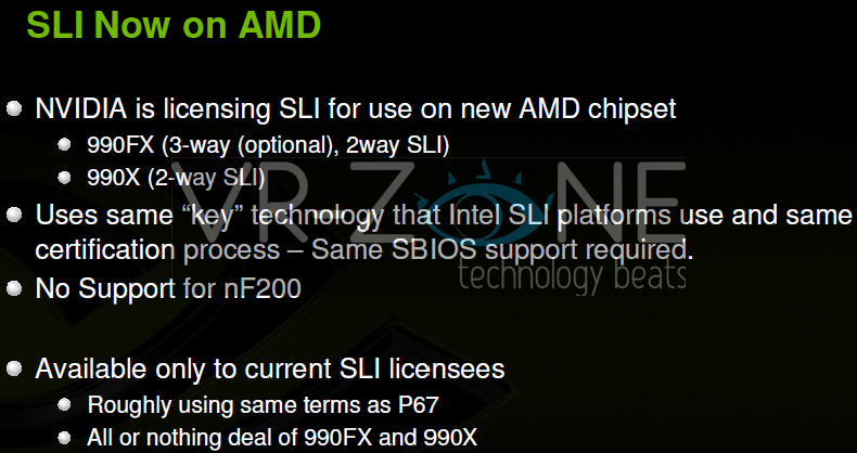 NVIDIA SLI on AMD Chipset Motherboards Soon | TechPowerUp