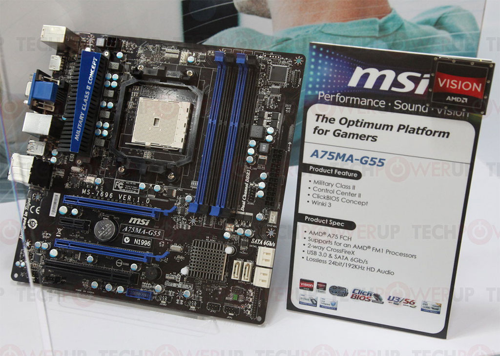 MSI A75MA-G55 OverClocking Center Drivers for Windows 7