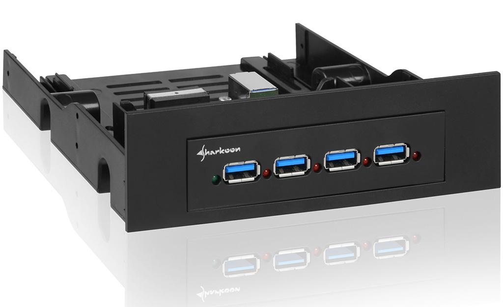 Sharkoon Announces Four Port Usb 3 0 Front Panel Hub