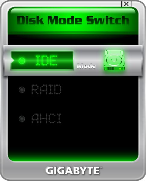 Gigabyte GA-H61M-S2H Disk Mode Switch XP