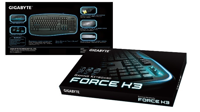 GIGABYTE Launches Force K3 Gaming Keyboard