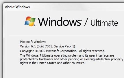 microsoft update windows 7 service pack 1