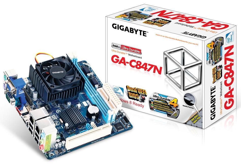 Gigabyte Readies the GA-C807N and GA-C847N Mini-ITX Motherboards