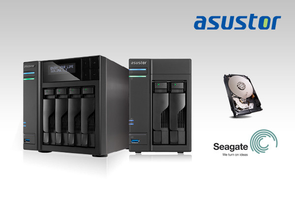 ASUSTOR Announces Compatibility with 3 New Seagate NAS Hard