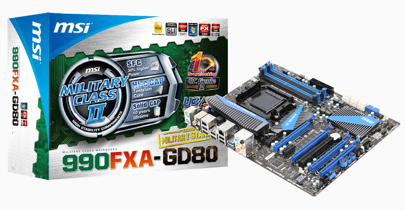 MSI 990FXA-GD80 Motherboard Gets Support for AMD FX-9590