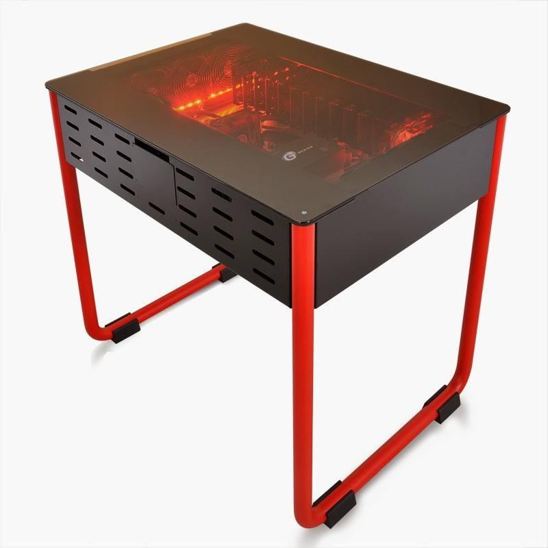 lian li dk01 desk type chassis prototype unveiled. Black Bedroom Furniture Sets. Home Design Ideas