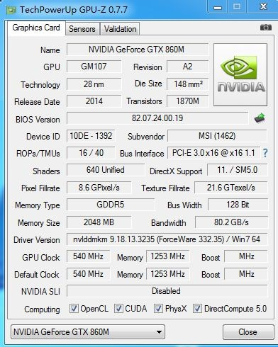 nvidia geforce gtx 860m driver for windows 8.1 64 bit