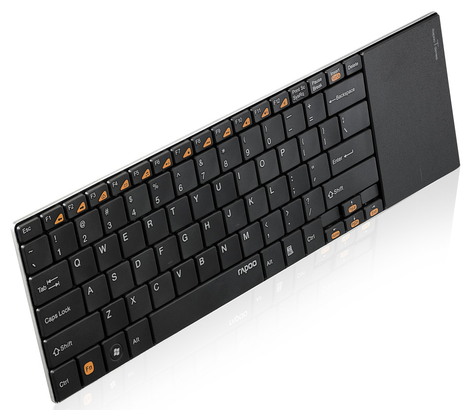 rapoo introduces the e9080 and e9180p wireless touchpad keyboards techpowerup. Black Bedroom Furniture Sets. Home Design Ideas