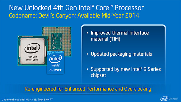 Multiplier-Unlocked Pentium G3258, Core i7-4790K and Core i5