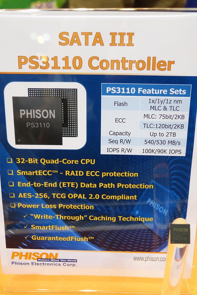 Phison Announces Quad-Core PS3110 SATA III SSD Controller